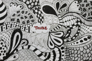 Zentangles with Pen BW