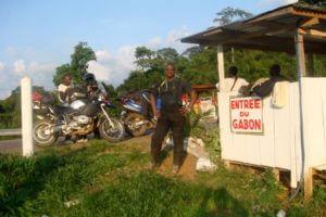 Cameroon Gabon border on Motorcycle