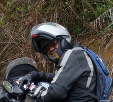 IB Udofia at Cameroon on Motorcycle