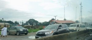 custom checkpoint along Lagos Benin Road
