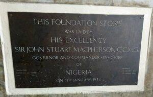 Nigeria Railway Corporation Lagos Terminus Iddo Foundation Plaque