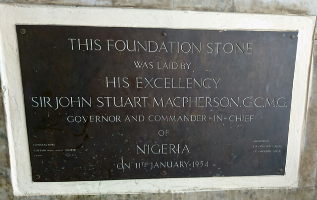Nigeria Railway Corporation Lagos Terminus Iddo Foundation Plaque