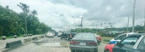 Bad Spot along Warri Sapele Road at Warri exit
