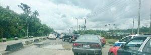 Bad Spot along Warri Sapele Road at Warri exit